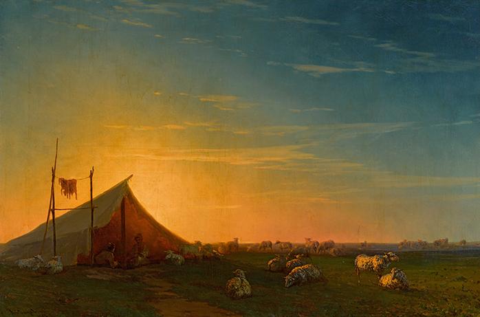 """Картина И. Айвазовского """"Становище пастухов"""" ушла с торгов в Лондоне в июне 2021 за 355 тыс.$. Фото Аукционный дом Sotheby's"""