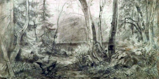 """Ранний карандашный рисунок И. Шишкина """"На Валааме"""" стоит 3 млн 200 тыс.руб."""