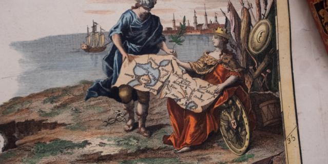 Карта Российской империи, созданная в Венеции в 1782 году.