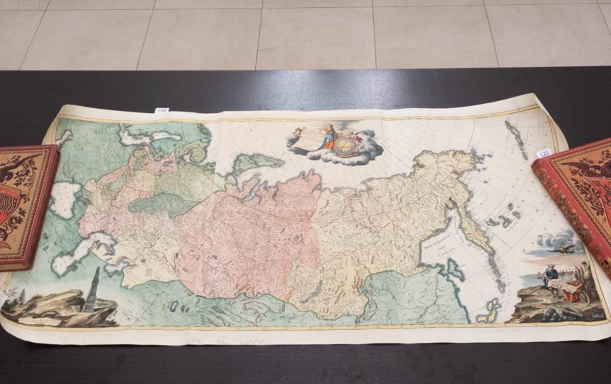 """Карта Российской империи, составленная по астрономическим наблюдениям 1782 года. Фото Святослав Акимов, """"Metro"""""""