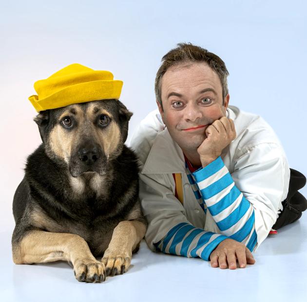 Пёс Грей и Дмитрий Куклачёв. Фото Все фото: Ирина Мызина, Виктор Чернышов.