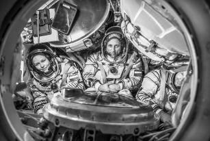 В таком близком соседстве Пересильд, Шкаплеров и Шипенко будут лететь до МКС. Фото Саша Гусов.
