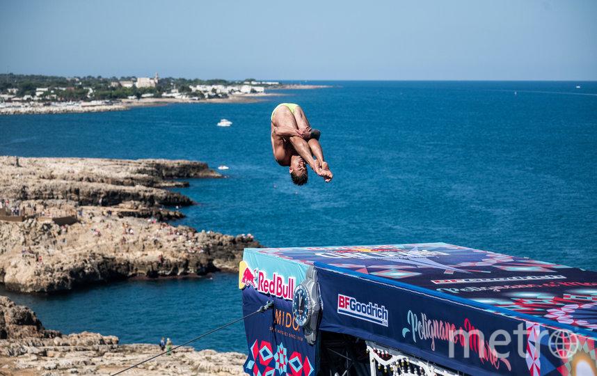 В Италии прошли соревнования по хай=дайвингу. Фото redbullcontentpool