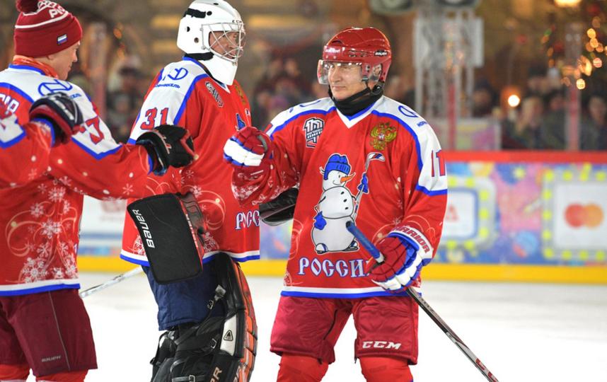 Товарищеский матч Ночной хоккейной лиги. Фото kremlin.ru