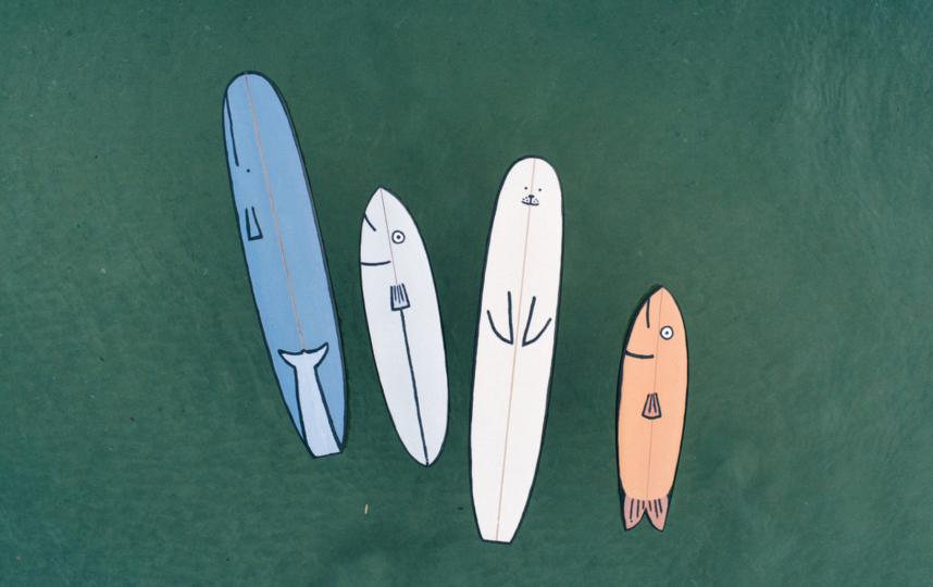 Доска-«кит», доска-«рыба», доска-«морж» и снова доска-«рыба». Фото Pirelli HangarBicocca