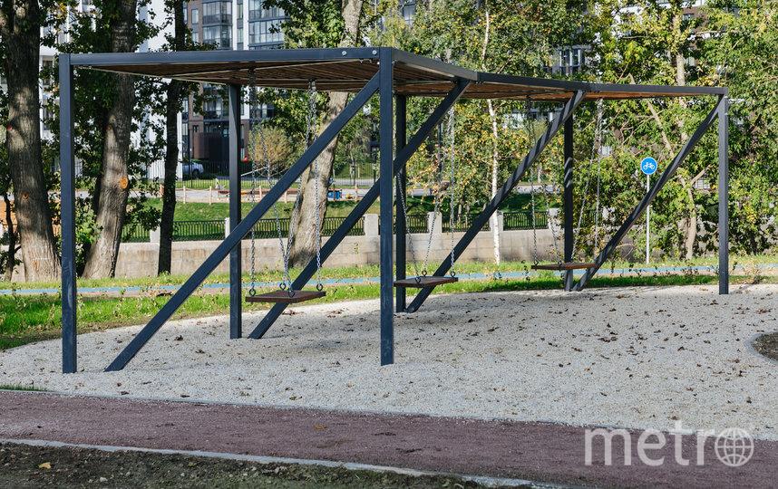 На набережных Охты и Оккервиля появилось новое общественное пространство. Фото Пресс-служба Администрации Санкт-Петербурга.