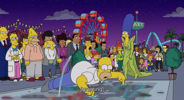 Симпсоны на подиуме.