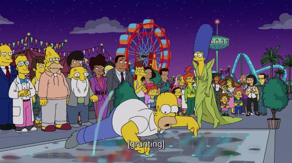 Симпсоны на подиуме. Фото Скриншот., Скриншот Youtube