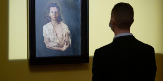"""Картину """"Галарина"""" впервые вывезли за пределы Театра-музея Дали в Фигерасе."""