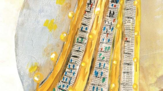 """Работа Кати Поляковой – это длинный эскалатор """"Лесенка-чудесенка""""."""