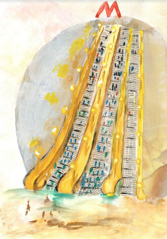 """Работа Кати Поляковой – это длинный эскалатор """"Лесенка-чудесенка"""". Фото Предоставлено АНО """"Колесо обозрения""""."""