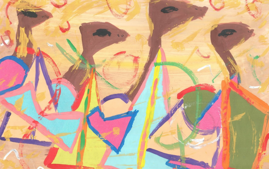 "«Путь Альтикамелуса» Марата Коженкова, у которого ДЦП, – отклик на картину Александра Волкова ""Караван. Пустыня перед бураном"". Фото Предоставлено АНО ""Колесо обозрения""."