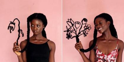 Африканка сделала свои волосы произведением искусства