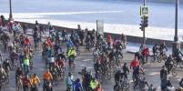 В Москве в 27-градусный мороз прошёл велопарад
