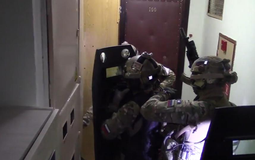 скриншот с официальной видеосъёмки ФСБ.