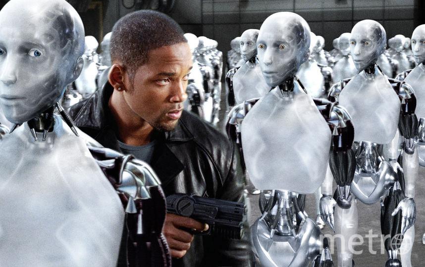 """кадр из фильма """"Я, робот""""."""