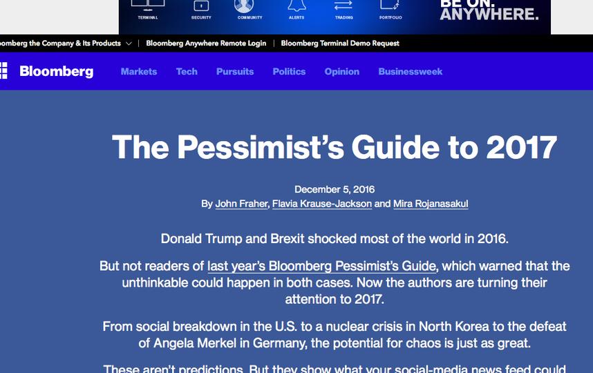 Скриншот Bloomberg.com.