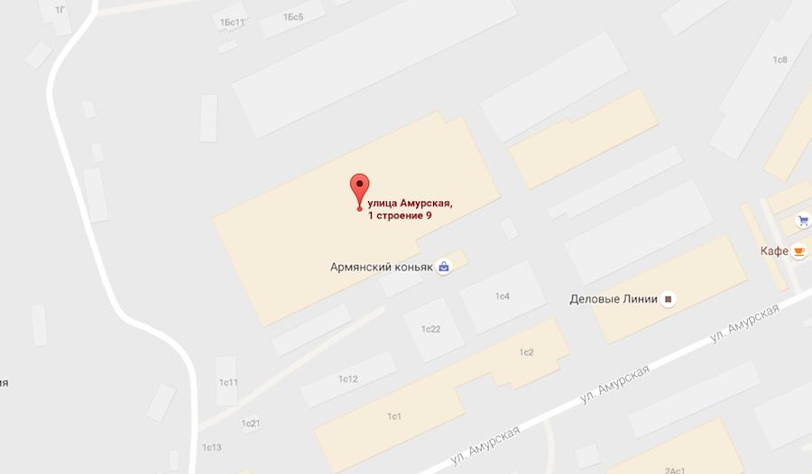 Скриншот Google maps.