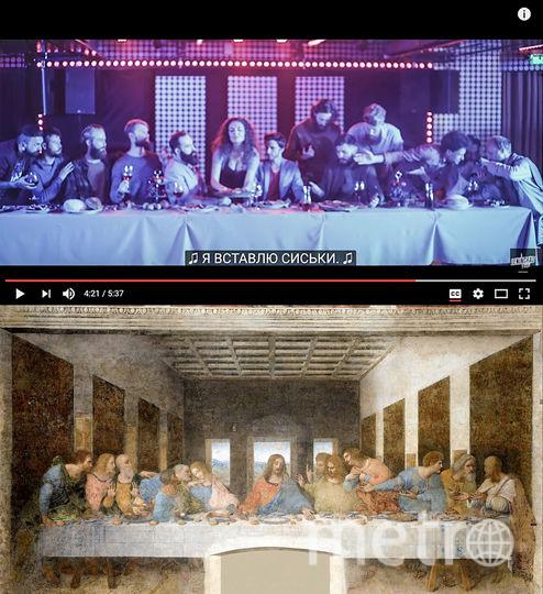 """Википедия, скриншот из клипа """"Сиськи""""."""