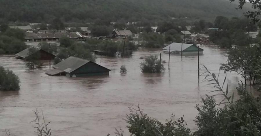 Фото после наводнения в приморском крае