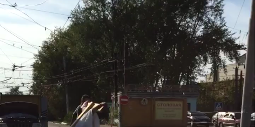 Скриншот видео Ули Сашиной.