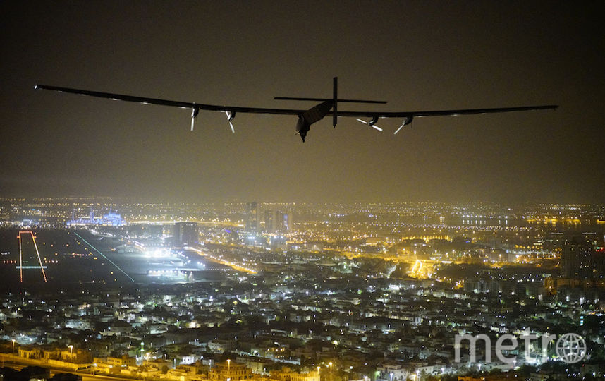 все фото - AFP PHOTO / SOLAR IMPULSE 2 / JEAN REVILLARD / BERTRAND PICCARD.