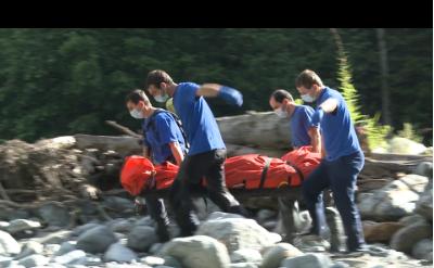 скрин-шот видео МЧС Абхазии.