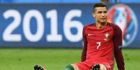 Криштиану Роналду покинул поле на носилках в финале Евро-2016