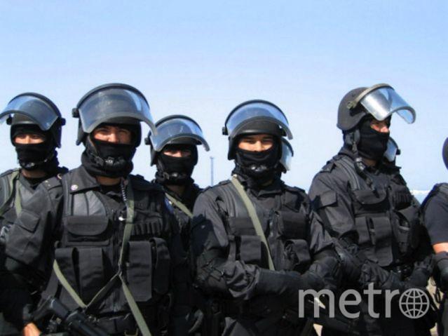Спецназ Комитета национальной безопасности Казахстана во время заключительной фазы учений (архивное .