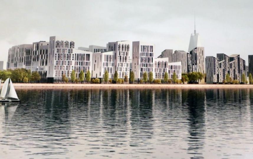 Первый ряд домов на берегу залива – элитные жилые комплексы Фото: Светлана Холявчук / интерпресс.
