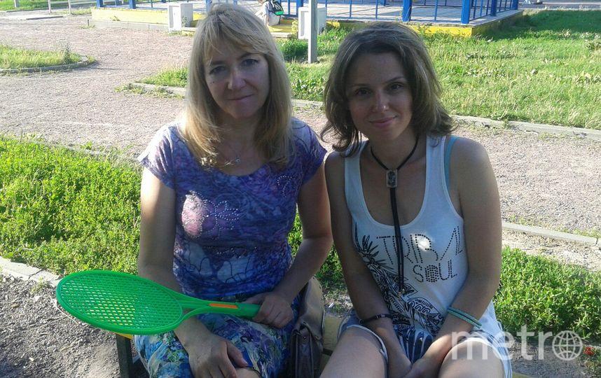 Полина и её подруга Марина.