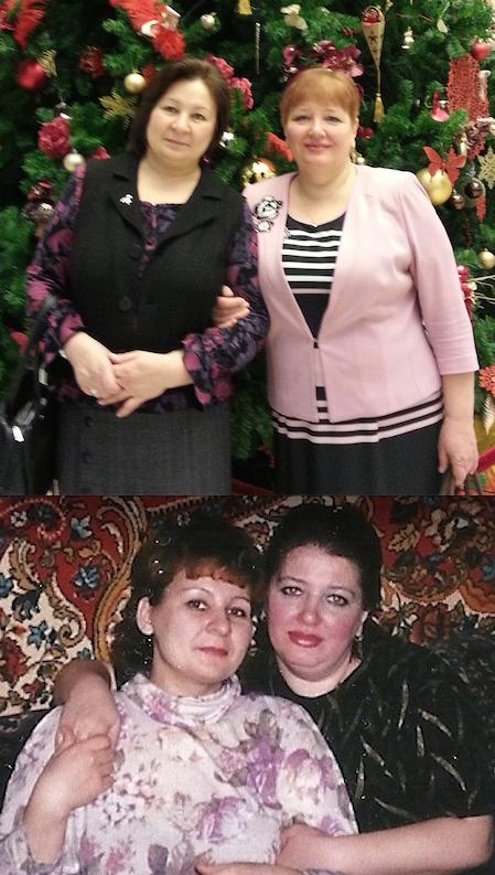 Наталья и её подруга Надежда.