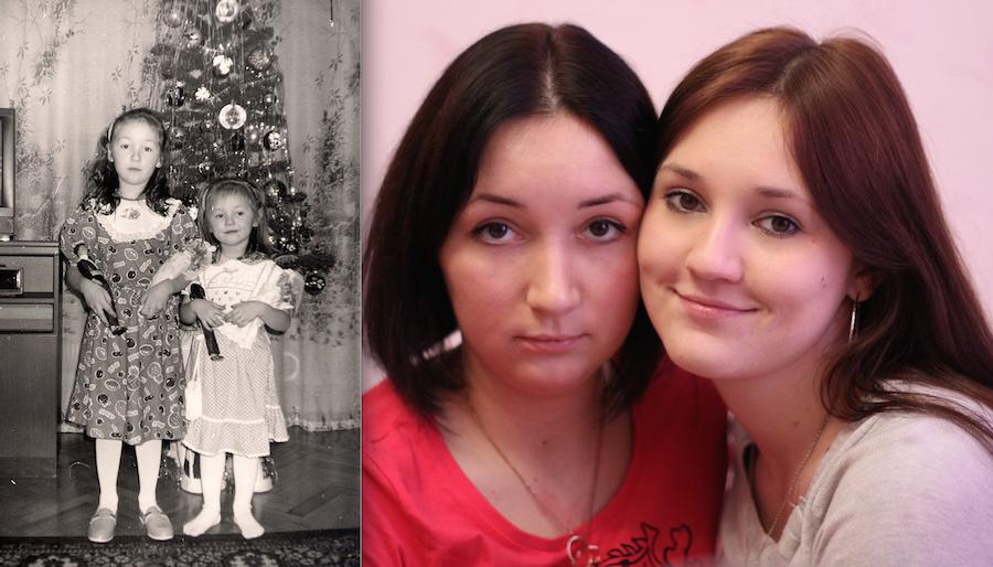 Александр Кунгуров и его дочки-подружки Катюша и Иришка.