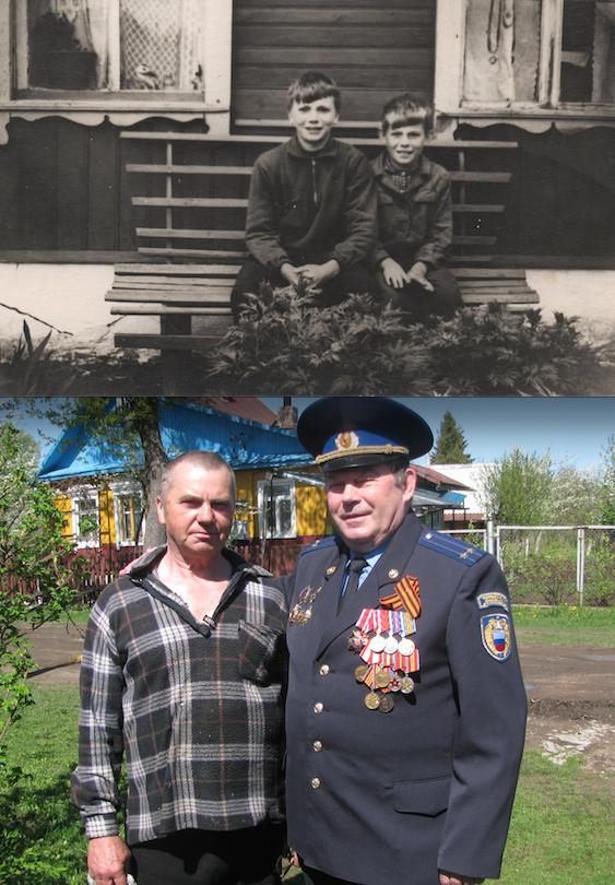 Коновальчук Петя и его друг Гапанович Витя.