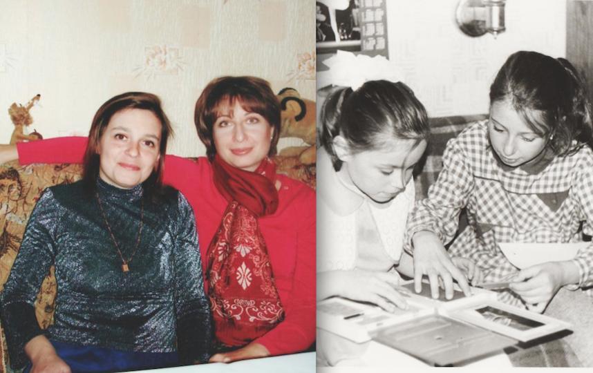 Татьяна и её подруга Лена.