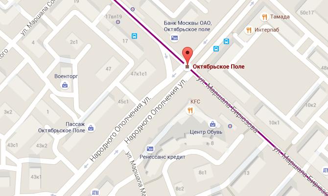 скриншот Google Map.