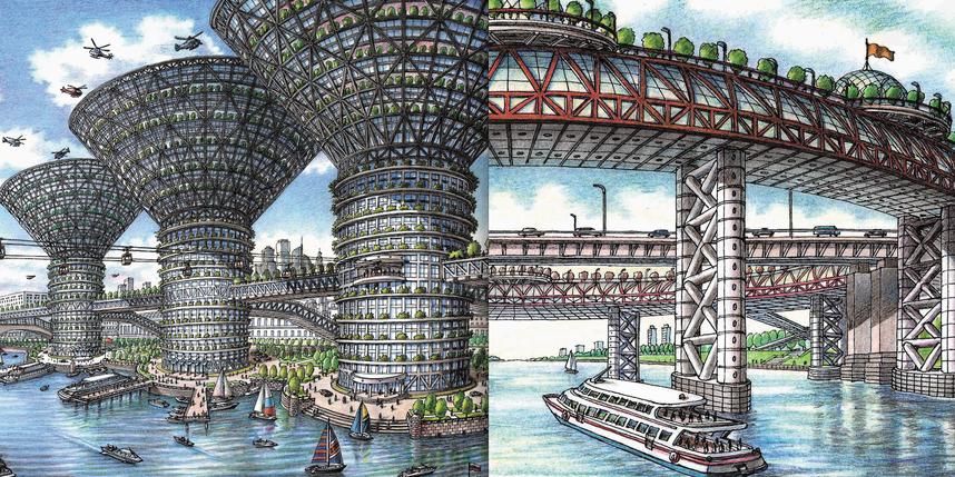 снимки и рисунки Артура Скижали-Вейса.