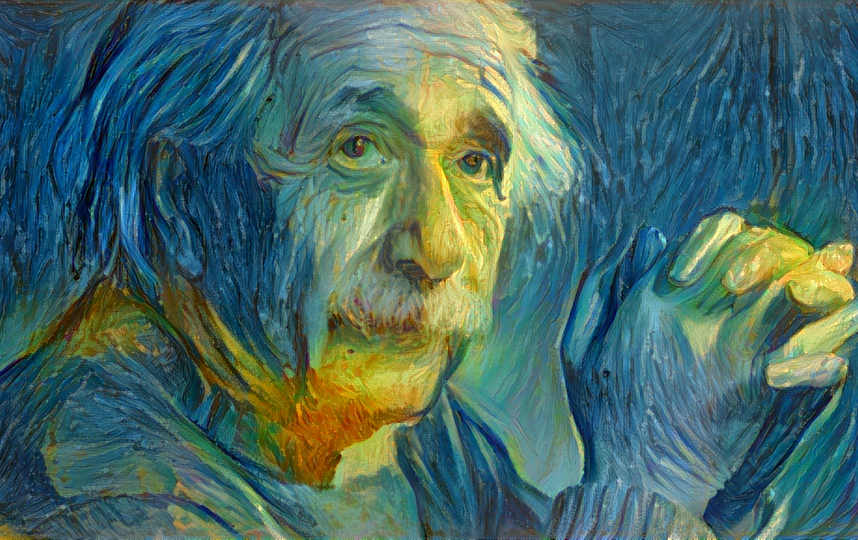 "Эйнштейн ""кисти"" Ван Гога / DeepArt."