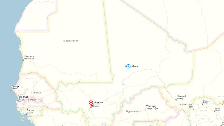 Скриншот Яндекс карты.