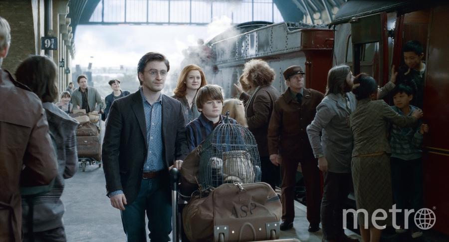 """кадр из фильма """"Гарри Поттер и Дары смерти, часть вторая""""."""