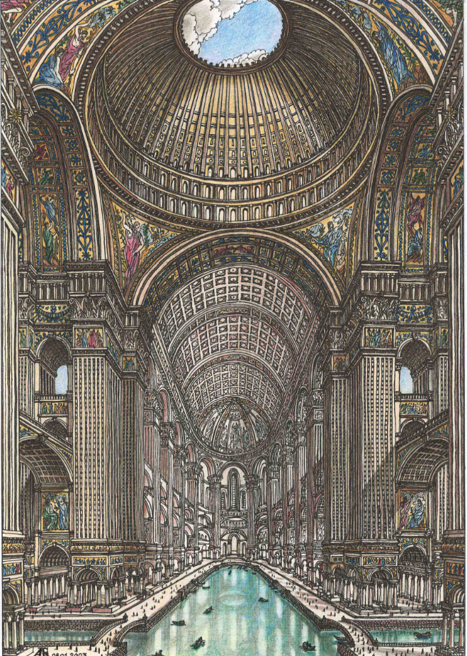 Жилой комплекс в виде гигантского кафедрального собора. Фото Артур Скижали-Вейс.