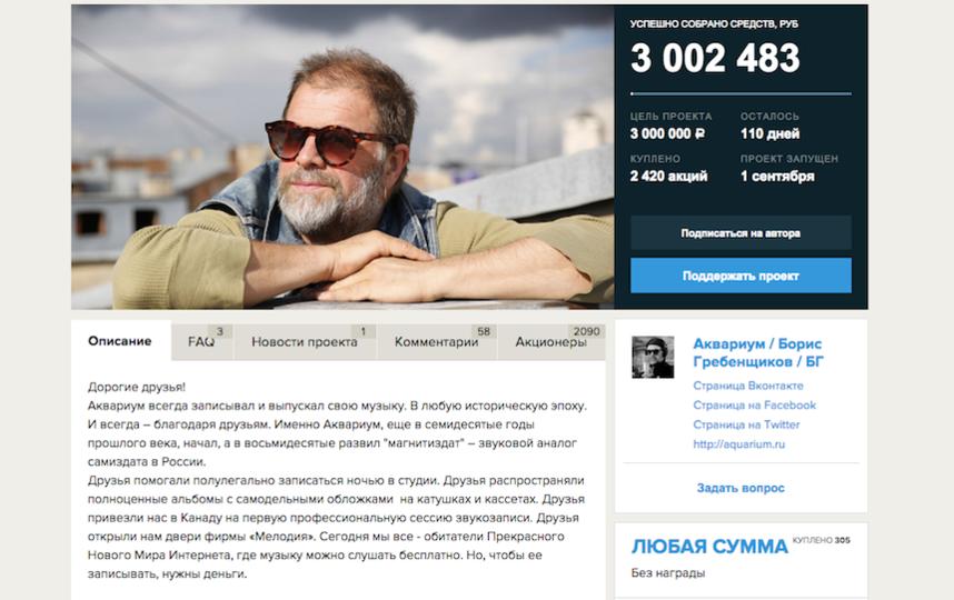 Фото: Скриншот проекта http://planeta.ru/campaigns/aquarium.