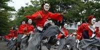 В Японии прошёл фестиваль танца в кимоно