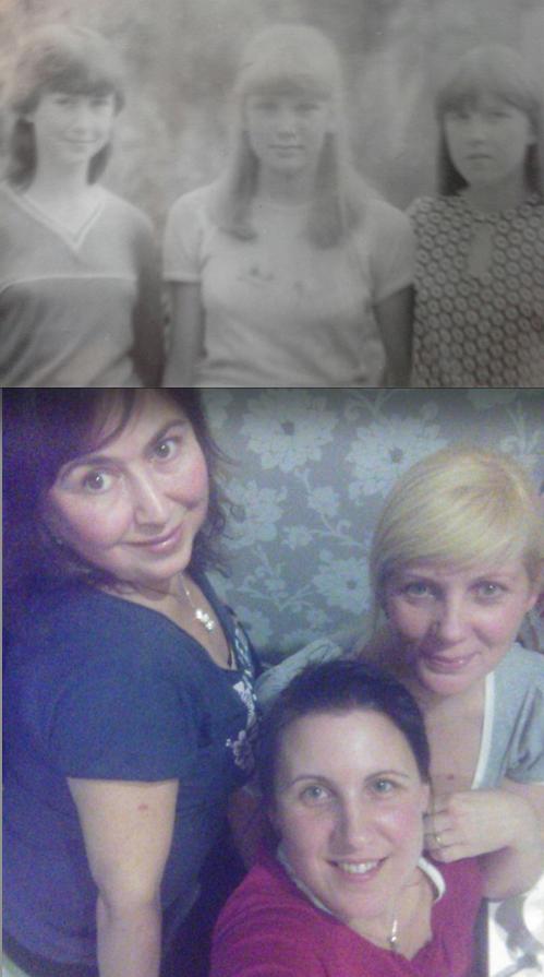 Ольга и её подруги Наталья и Елена.