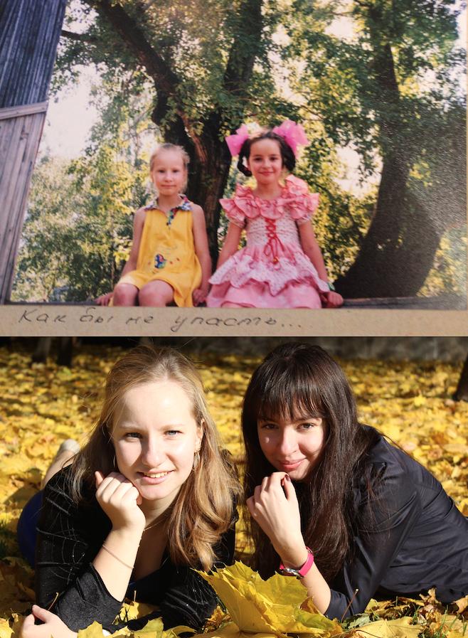 Петухова Анастасия и её подруга Аннушка.