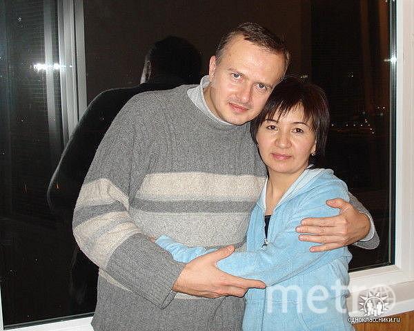 Айнакан Джансеитова и её друг Александр Дронов.