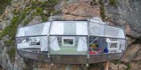 Отель позволит поселиться в капсуле над скалой