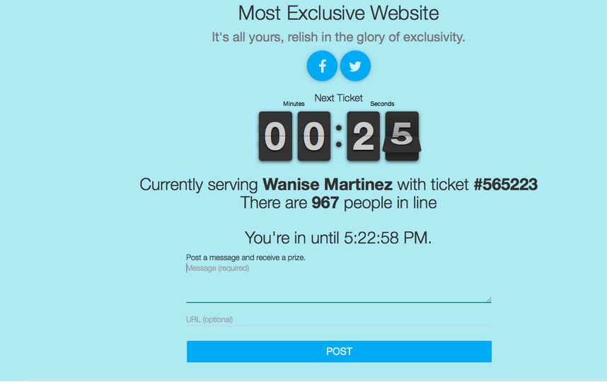 скриншот mostexclusivewebsite.com.