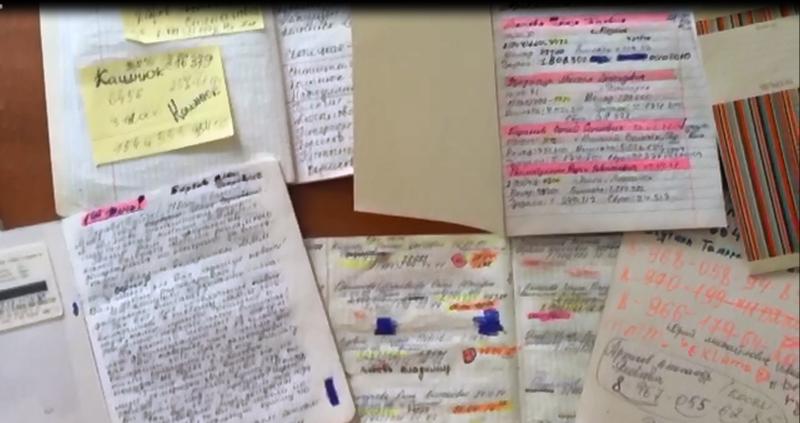 Документы, изъятые у мошенников / фото пресс-службы УВД по СВАО.