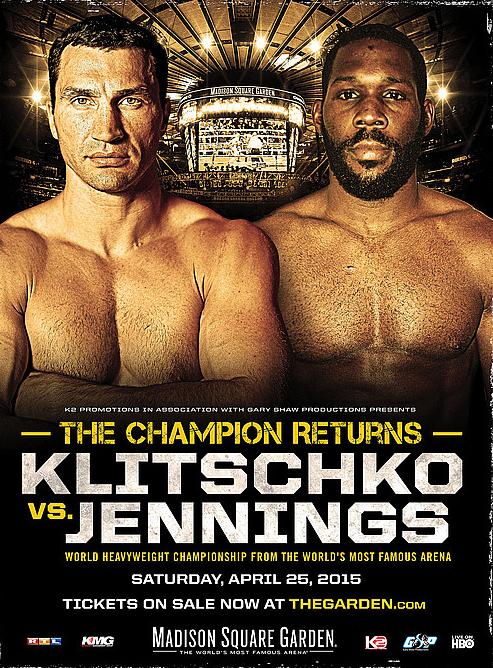 Постер к бою Кличко - Дженнингс.
